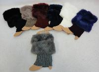 Knitted Boot Cuffs [Plush Trim]